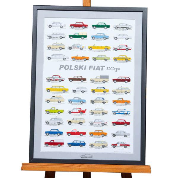 PLAKAT L - Polski Fiat 125p - rozmiar B2: 50cmx70cm