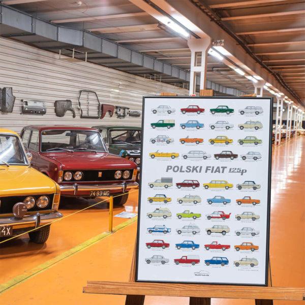 PLAKAT M - Polski Fiat 125p - rozmiar B3: 35cmx50cm