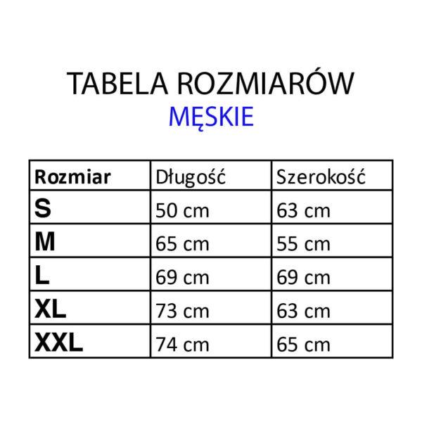 Bluza z kapturem GRAT - tabela rozmiarów