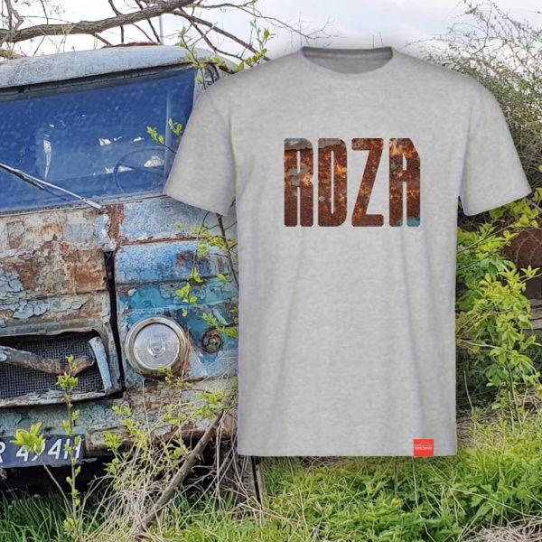 Męska koszulka z napisem RDZA z serii Graty Dają Radę