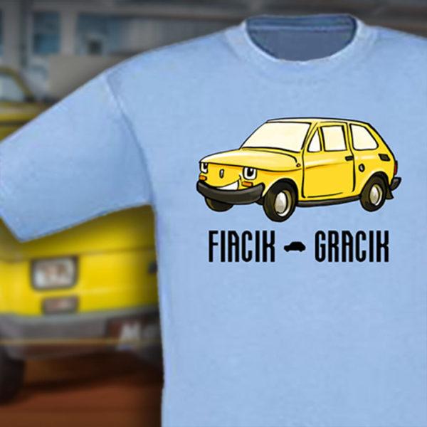 Dziecięca koszulka z Polskim Fiatem 126p