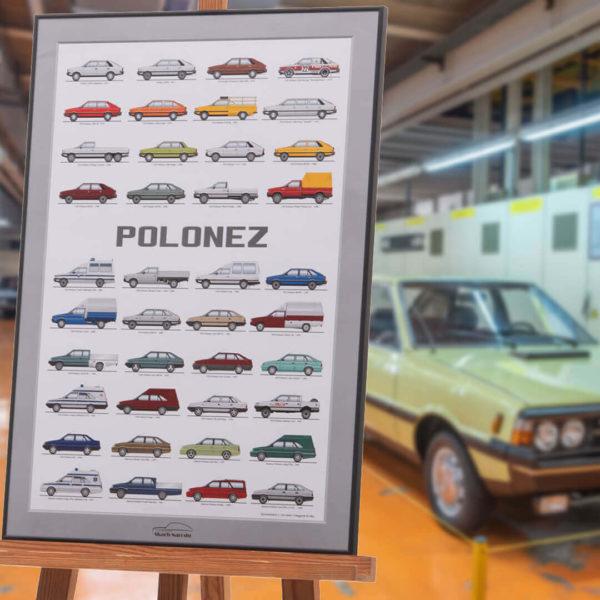 Plakat FSO Polonez Muzeum SKARB NARODU